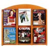 Lesro Clear-Face Magazine Racks