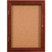 Enclosed Illuminated Cork Board - 1 Door (2'x3')