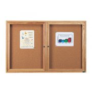 Enclosed Cork Board - 2 Door (5'x4')