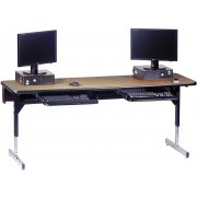 8700 Series Adjustable ADA Computer Table (72x36
