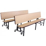 Deluxe Convertible Bench Cafeteria Table - Dyna-Rock Edge (8')
