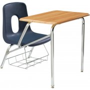 Poly Student Chair Desk - WoodStone Top (14