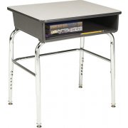 Adjustable Height Open Front School Desk - Laminate, U Brace