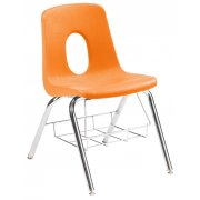 120 Series Poly Shell Chair with Book Basket (16