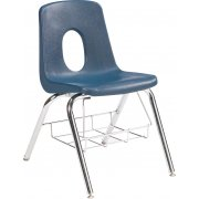 120 Series Poly Shell Chair w/Bookbasket (19.25