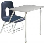 Poly Student Chair Desk - Hard Plastic Top (14