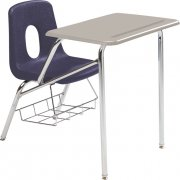Poly Student Chair Desk - Hard Plastic Top (19