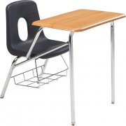 Poly Combo Chair Desk - WoodStone Top (34