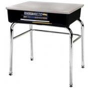 Open Front School Desk - Hard Plastic Top, U Brace