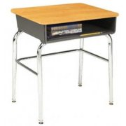 Open Front School Desk- WS- U Brace