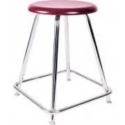 Adjustable Lab Stool with Hard Plastic Seat