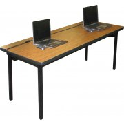 Flip-Top Computer Table Adjustable Ht. (48