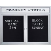 Enclosed Illuminated Letter Board 1/Header (2-Door)