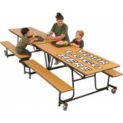 Mobile Cafeteria Table - Plywood Core, Vinyl Edge, 8'