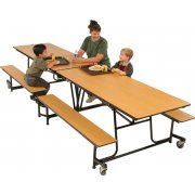 Mobile Cafeteria Table - Vinyl Edge, 8'