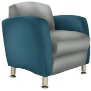 Metal Leg Lounge Chair Two Tone Gr 1