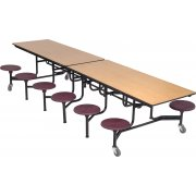 Mobile Stool Tables 10' Plywood Top - 12 Stools