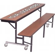 AMT Mobile Convertible Bench Cafeteria Table - DynaEdge (8')