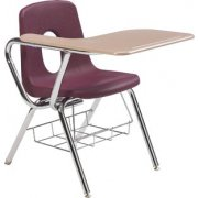 Tablet Arm Chair Desk - WoodStone Top (16