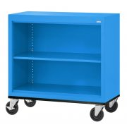 Mobile Steel Bookcase (3'Wx3'H)