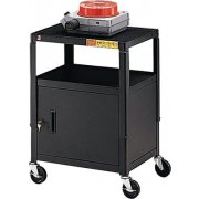 Steel Adjustable AV Cabinet Cart