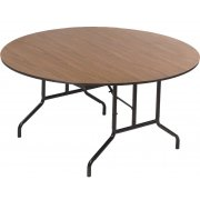 Round Plywood-Core Folding Table Wishbone Leg (60
