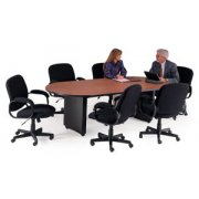 Curved Plinth Base Conference Table (96