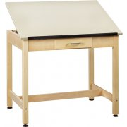 Drawing Table 1-Piece Top Small Drawer (37