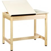 Drawing Table 2-Piece Top Large Drawer (37