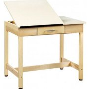 Drawing Table 2-Piece Top Small Drawer (30