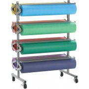 Mobile 8-Roll Horizontal Rack Paper Roll Dispenser