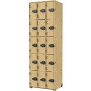 Band-Stor Instrument Locker - Solid Doors, 15 Cubbies