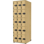 Band-Stor Instrument Locker - Solid Doors, 15 Deep Cubbies
