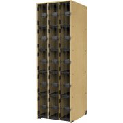 Band-Stor Instrument Locker - 15 Deep Cubbies, Grille Doors
