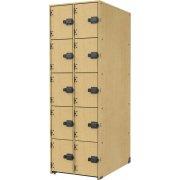 Band-Stor Instrument Locker - Solid Doors, 10 Deep Cubbies