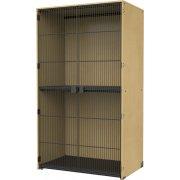 Instrument Locker - Full-Length Grille Doors, 2 XL Cubbies