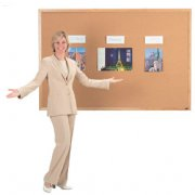 Wood Frame Cork Board (4'x4')