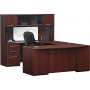 Causeway Deluxe U-Shaped Office Desk with Overhead