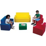 Childs Upholstered 5 Piece Parlor Seating Set