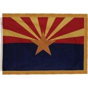 Indoor Arizona State Flag with Pole Hem and Fringe (3x5')