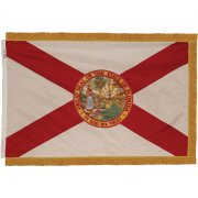 Indoor Florida State Flag with Pole Hem and Fringe (3x5')