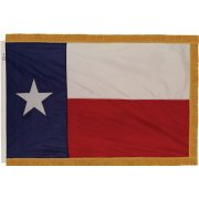 Indoor Texas State Flag with Pole Hem and Fringe (3x5')