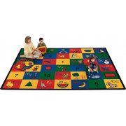Blocks of Fun Rectangle Carpet (4'5