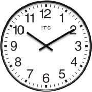 Profuse Black Oversized Classroom Wall Clock (19