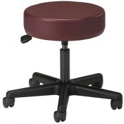 Medical Exam Stool w/ Pneumatic Adj., Black Base