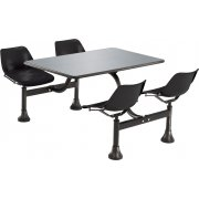 Cluster Seating Table - Stainless Steel Top (24x48