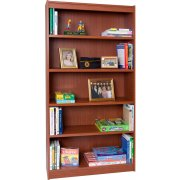 Contemporary Wood Veneer Bookcase Excalibur (3'Wx6'H)