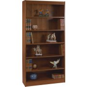 Contemporary Wood Veneer Bookcase Standard (3'Wx7'H)
