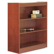Contemporary Wood Veneer Bookcase Excalibur (3'Wx3'H)