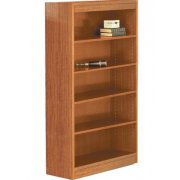 Contemporary Wood Veneer Bookcase Excalibur (3'Wx5'H)